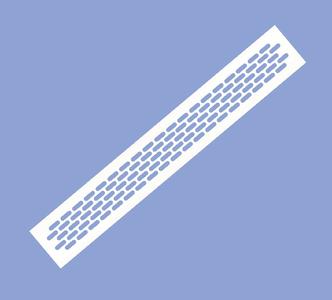 Решетка вентиляционная 480х60 белая VG-60484-10