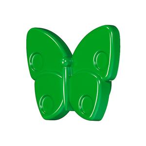 Мебельная ручка Бабочка зеленая, 138.68.012