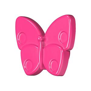 Мебельная ручка Бабочка темно-розовая, 138.68.412