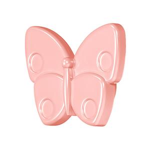 Мебельная ручка Бабочка розовая, 138.68.512