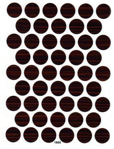 Заглушка самоклеющаяся A-1985 Зебрано глян. 14 мм A-1985 Зебрано глянец 14 мм