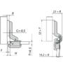 Петля Metallamat Mini 92° для стекла 317.02.502