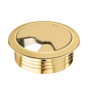Кабельный вывод круглый, золото d60мм 428.96.802