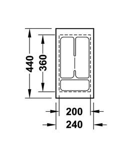 Лоток 240x440x50 мм 556.62.601