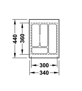 Лоток 340x440x50 мм 556.62.603