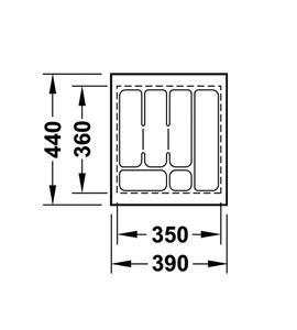 Лоток 390x440x50 мм 556.62.604