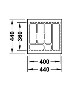 Лоток 440x440x50 мм 556.62.605