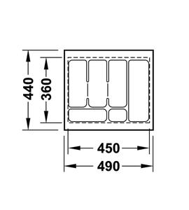 Лоток 490x440x50 мм 556.62.606