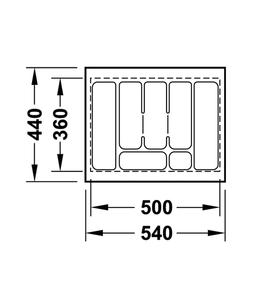 Лоток 540x440x50 мм 556.62.607
