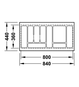 Лоток 840x440x54 мм 556.62.618