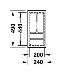 Лоток 240x490x50 мм 556.62.621