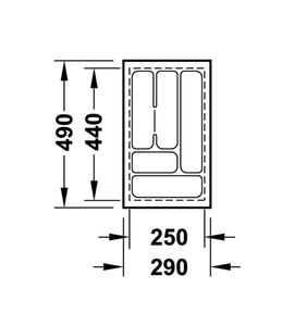 Лоток 290x490x50 мм 556.62.622