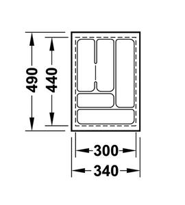 Лоток 340x490x50 мм 556.62.623