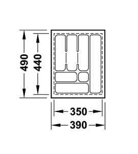 Лоток 390x490x50 мм 556.62.624