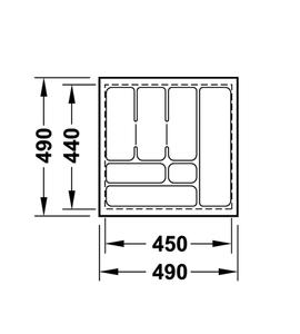 Лоток 490x490x50 мм 556.62.626