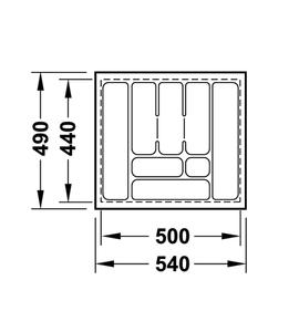Лоток 540x490x50 мм 556.62.627