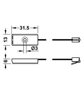 Дверной сенсорный выключатель 20° 820.17.385