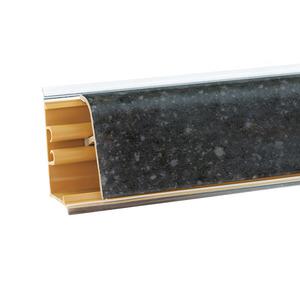 Плинтус Бриллиант черный 3000х37х24 мм LB-37-468