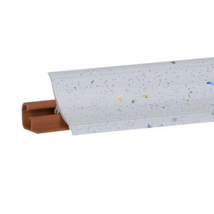 Плинтус Искра белая глянец 3000х23х23 мм  LB-231-6082