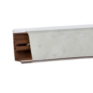 Плинтус Мрамор белый 3000х37х24 мм  LB-37-340