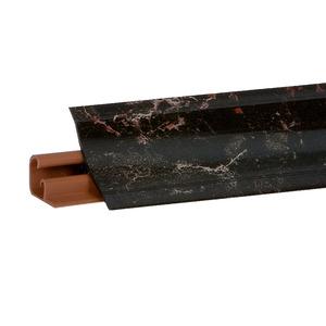 Плинтус Мрамор марквина черн. 3000х23х23 мм  LB-231-6094