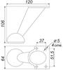 Мебельная опора N204CP.2