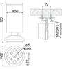 Мебельная опора N302CP/CP.1