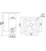 Мебельная опора N304CP.2