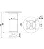 Мебельная опора N308CP.2