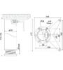 Мебельная опора N401CP.4