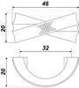 Мебельная ручка RS422BAZ.4/32