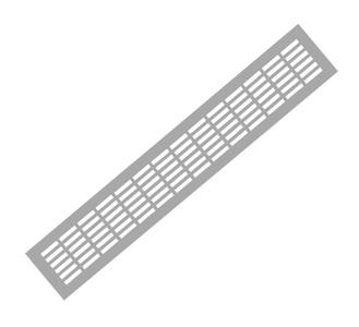 Решетка вентиляционная 480х80 хром VG-80480-05
