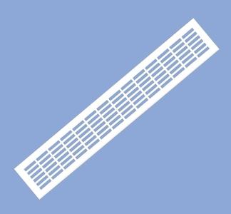Решетка вентиляционная 480х80 белая VG-80480-10